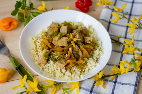 Tofu with millet
