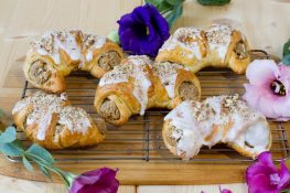 Croissants with poppy seeds