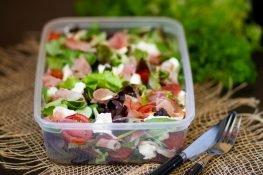 Salad with Parma ham