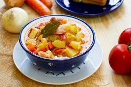 Stew from zucchini