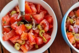Salsa from tomatoes