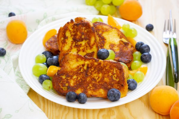 French toast made with Challah