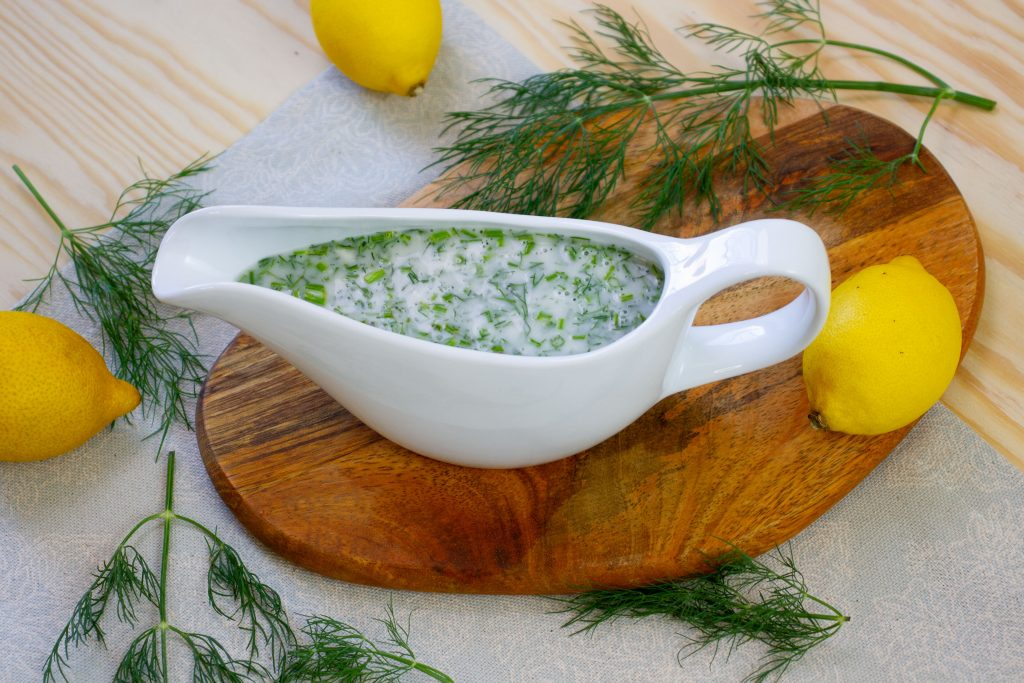Sauce with dill