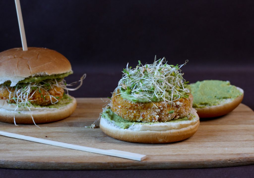 Burgers made from carrot