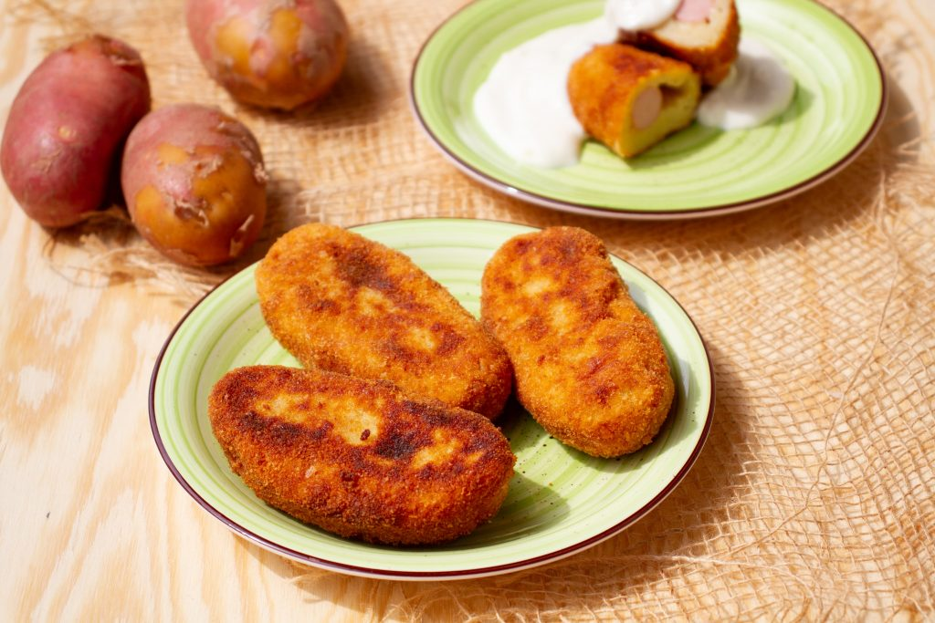 Croquettes made with sausages