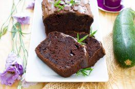 Moist chocolate and zucchini cake