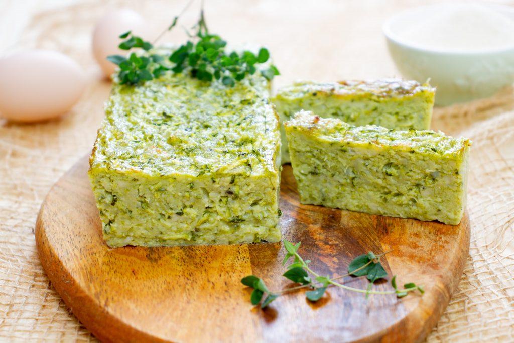 Terrine from zucchini and cheese
